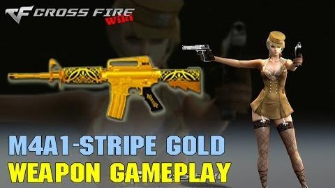 CrossFire - M4A1 Stripe Gold - Weapon Gameplay