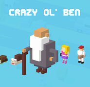 Crazy Ol' Ben crossy road selection menu