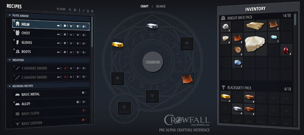 Crowfall PreAlphaCraftingInterface