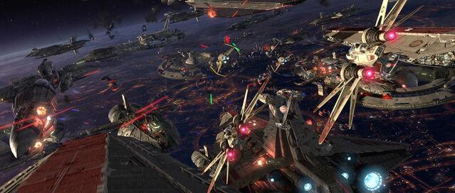 File:Battle over Coruscant-SWE3.jpg