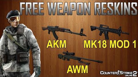 AKM, AWM and the MK18 Mod 1 - CSO2 Weapon Reskins