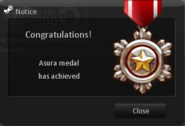 Asura medal obtain
