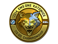 Wolf esl gold foil large