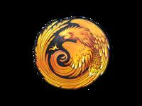 Phoenix sticker large