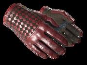Slick gloves slick red light large