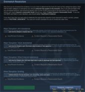 Overwatch resolution window