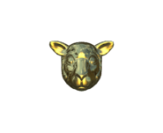 Csgo Facemask sheep gold