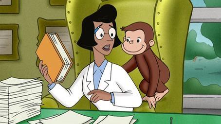 File:Professor Wiseman with curious george .jpg