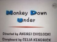 Monkey Down Under Title Card