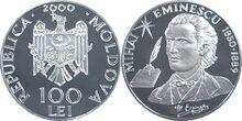 Moldova 100 lei Eminescu 2000