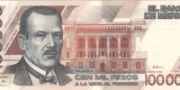 Mexican 100,000 peso banknote