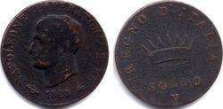 Kingdom of Italy soldo 1808V