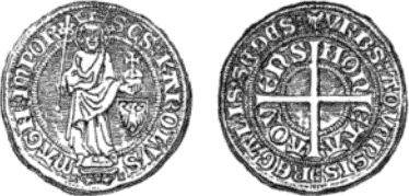 File:Aachen groschen with standing Charlemagne.png