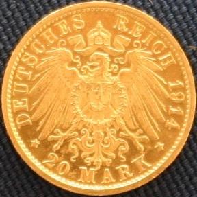 File:Preußen Wilhelm II in Uniform 20 Mark Revers.JPG