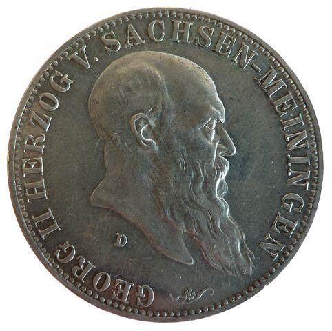 File:5 Mark Sachsen-Meiningen Georg II 75 Jahre.jpg
