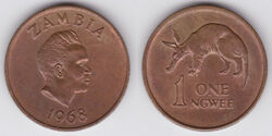 Zambia ngwee 1968