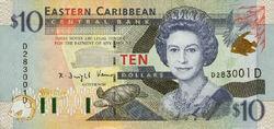 10 EC dollar banknote obverse