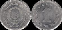 Yugoslavia 1 dinar 1963