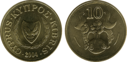 Cyprus 10 cents 2004