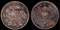 German ½ mark coin (Gold mark)