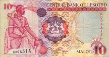 Lesotho 10 maloti 2003 obv