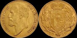 Liechtenstein 10 krone 1900