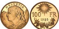Swiss 100 franc coin