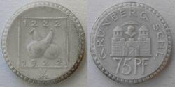 Grünberg 75 pfennig 1922