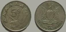 Namibia 5 dollar coin 1993