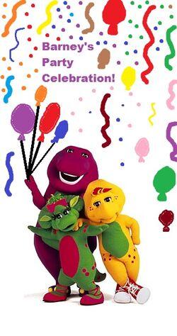 Barney's party celebration vhs cover