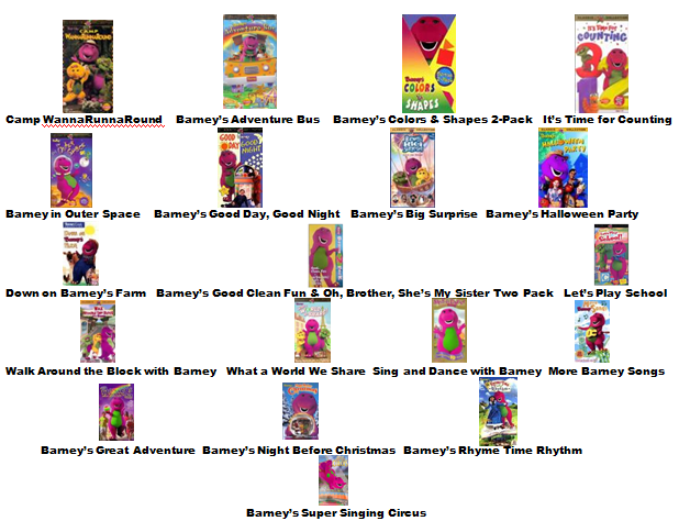 Image barney home video classics booklet 2000 page 3 for Classic house tracks list