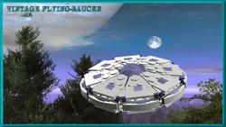 Vintage flying saucer 3