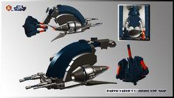 Darth Vader's spinning top ship 1