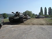 Tanks moving out