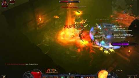 Diablo 3 ROS Greater Rift Level 32 Clear by Leap Quake Barbarian Mojofabulous of Unity Clan