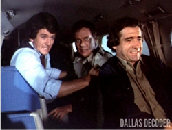 Dallas TOS episode 2x9 - Bobby and J.R. survive plane crash