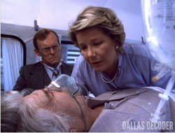 Dallas TOS episode 2x4 - Jock's heart attack