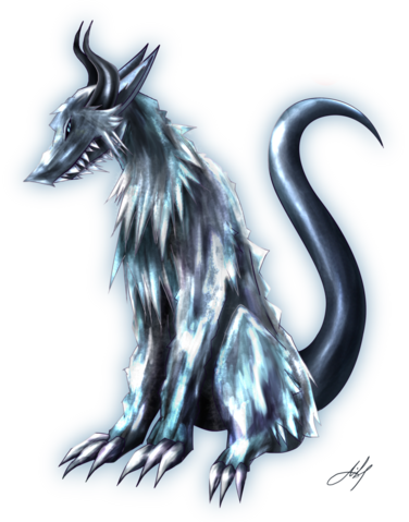 File:D a m m e d ice wolf by reiakitsune-d4rcnu4.png