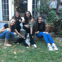 710 Girls w dog
