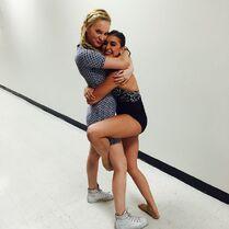 Addison hugging Kalani 2015-05-02