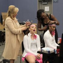 724 HQ - Kendall and Camryn getting ready