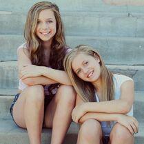 Talia with her sister Kayla