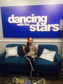 Maddie preparing for DWTS - 1May2015