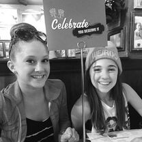 Haley and Kaycee dinner - 2015-05-30