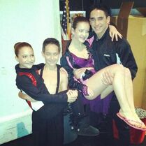 Mackenzie and Brooke with Gino and Kevin 2012-12-09