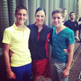 Nina Linhart with Brandon Pent Nick Dobbs
