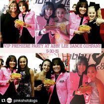 Gloria Pink of pinkshotdogs - with Abby Kendall JoJo Nia Tessa Maddie - via Maddie IG