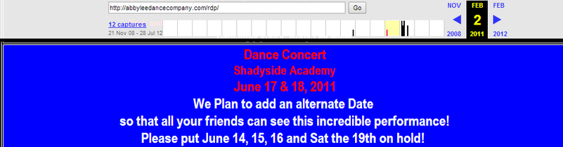 Concert scheduled for mid-June 2011 unclear if date changed