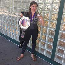 Kalani with Xpression belt 2May2015