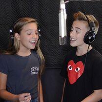 Johnny and Mackenzie in recording studio
